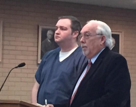 Wade VanGelderen with his attorney, Terry Shaw.