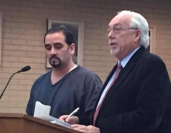 Oscar Borrego with his attorney, Terry Shaw.