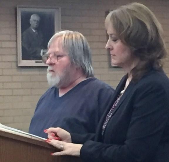 Michael Johnson with his attorney, Julie Springstead Waltz.