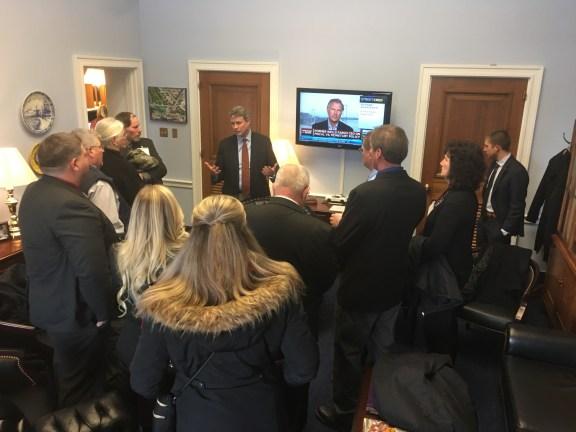 Congressman Huizenga speaks to Farm Bureau members.
