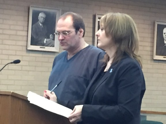 Sidney Fuller with his attorney, Julie Springstead Waltz.
