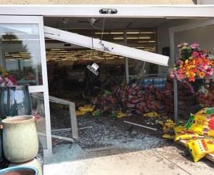 The crash scene at Shopko Wednesday. OCP photo by Rachel Gale