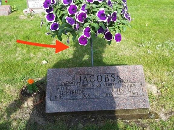 Cemetery flowers stolen