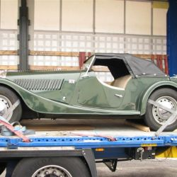 Morgan Classic car being imported from Sweden