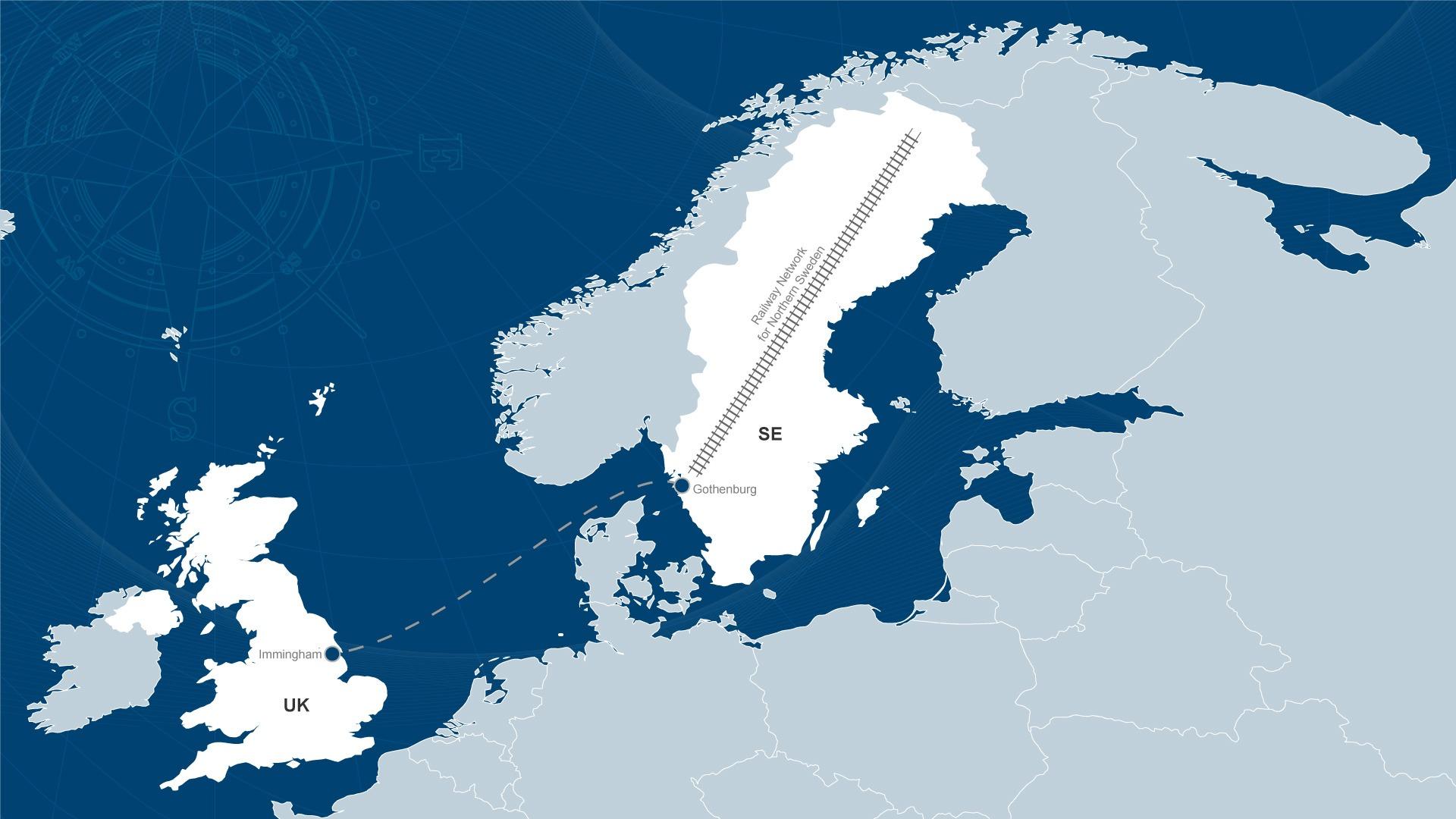 Sweden OceanBlue Logistics Limited - Sweden map gothenburg