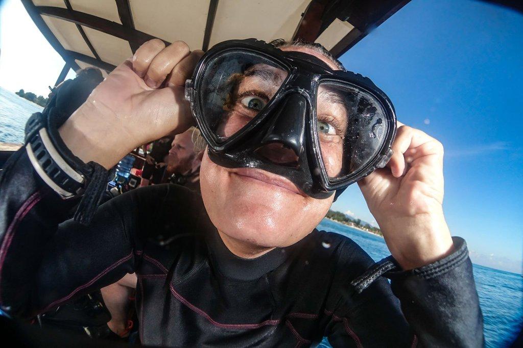 Dive instructor fun