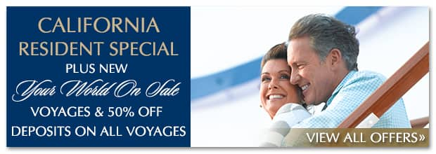 Just Added! New Your World On Sale Voyages, Reduced Fares, ShipboardCredit & more