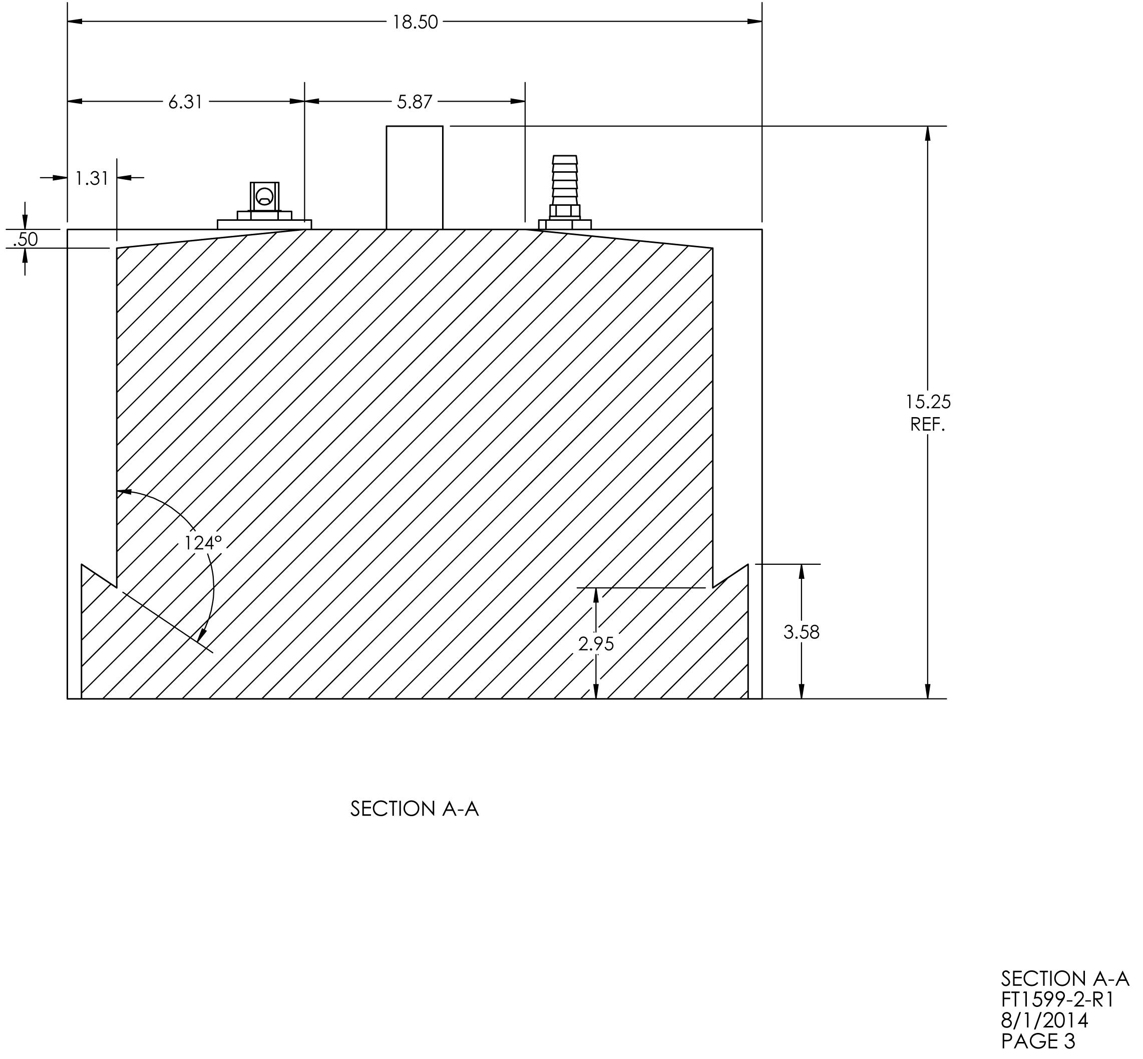 15 Gallon Rectangular Shaped Fuel Tank 18 5 X 17 75 X 12