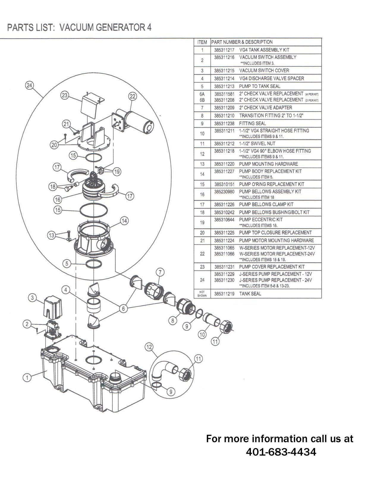 Vg4 J Series Vacuum Generator 12v