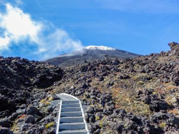 Die Devil´s Staircase auf dem Tongariro Alpine Crossing.