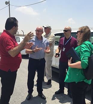 The Humanitarian Coordinator for the occupied Palestinian territory, Mr. Jamie McGoldrick, in Kerem Shalom, 17 July 2018