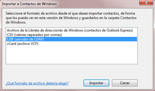 Migrar libreta de direcciones desde Thunderbird a Outlook 2010 en Windows 7 (6/6)