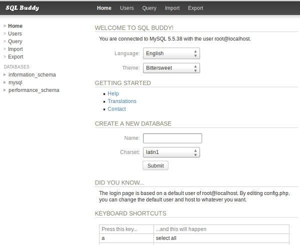 SQL Buddy, una gran herramienta MySQL (5/6)