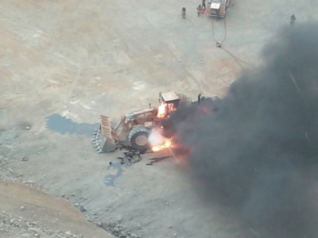 quema de camion