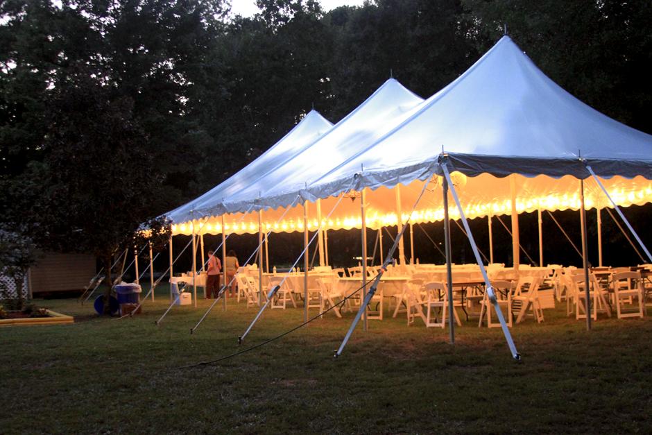 High Peak Pole Tent Rental Oconee Events Wedding