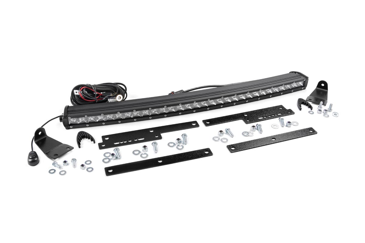 Single Row Led Light Bar Hidden Grille Mount W 30 Inch