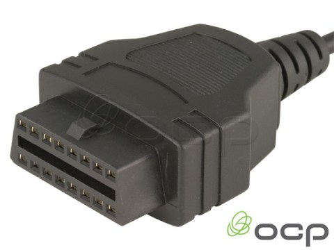 11760-03-301 - OBD II J1962 Cables Female 8' To Blunt End Cut, UL2464, 24AWG