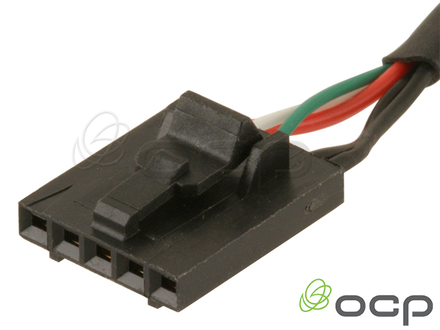 Panel Mount USB Female Ext to 5 position C-Grid