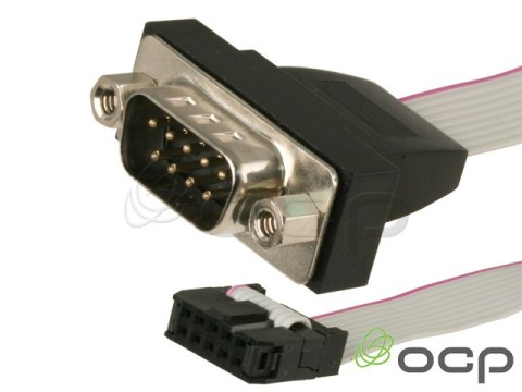 55-50433 - Panel Mount DB9 Male Serial Port with Bracket