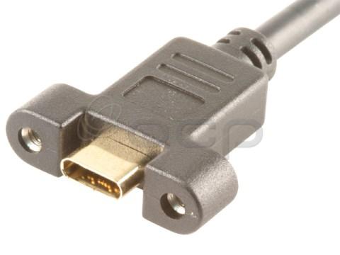 62-00210 - USB type C Single Panel Mount Female-Male, Screw In