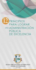 12 Principios para Lograr una Administración Pública de Excelencia