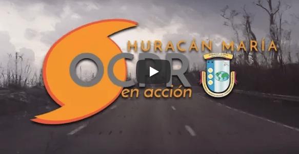 Vídeo Huracán María, OCPR en Acción