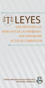 Leyes que protegen los derechos de las personas que denuncian actos de corrupción