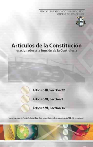 Portada Artículos de la Constitución relacionados con la Contraloría
