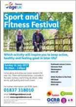 fitness festival over 50s poster