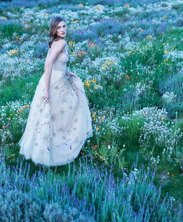 Dior L'Amoureux embroidered tulle dress. Dior, South Coast Plaza, 714.549.4700 :: dior.com