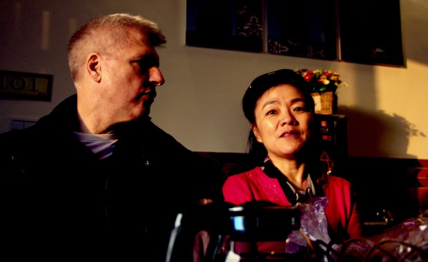 Ned Anthony, originally of Orange, with his wife, 'The Gangster's Daughter' filmmaker Mei-juin Chen, of Los Angeles.
