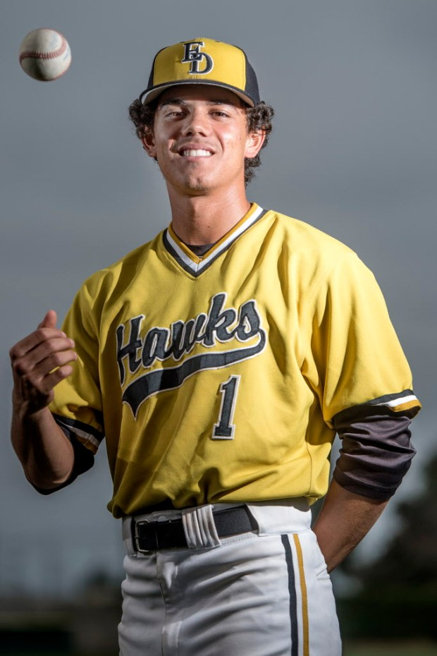 El Dorado's Jesse Lopez has been selected to the All-County Baseball Team. (Photo by Matt Masin, Orange County Register, SCNG)