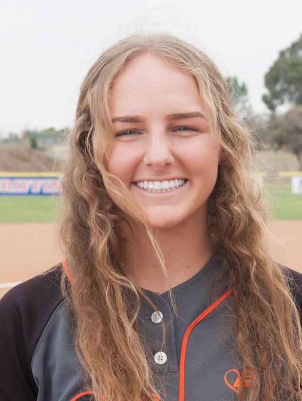 Register's All-County softball team member Ivy Davis of Huntington Beach, on Thursday, June 8, 2017. (Photo by Nick Agro, Orange County Register/SCNG)