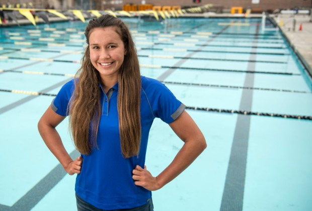 Santa Margarita's Samantha Shelton is the Register's girls swimmer of the year. (Photo by Kyusung Gong/Orange County Register/SCNG)