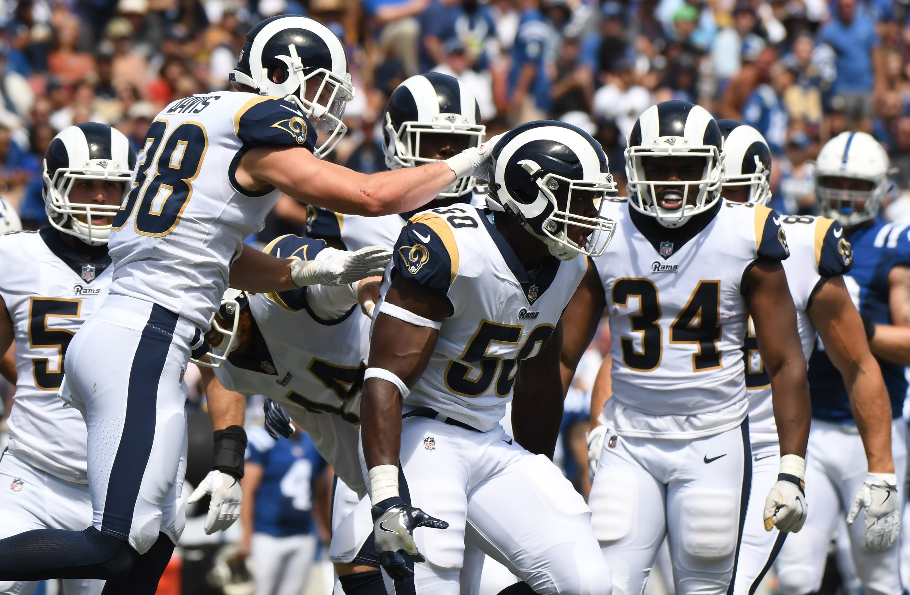 Image result for los angeles rams defense vs colts