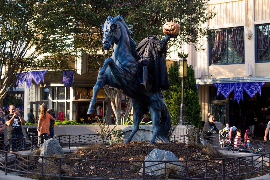 The Headless Horseman statue on display inside Disney California Adventure on Friday, September 15, 2017. (Photo by Drew A. Kelley, Contributing Photographer)