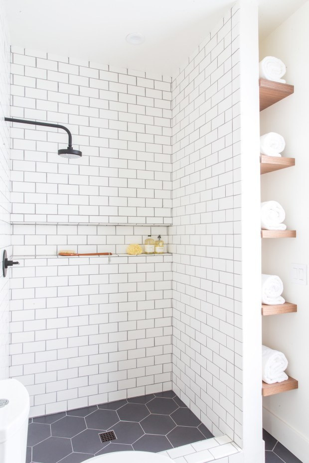 Here's how to combine trendy and timeless in a modern ... on Farmhouse Tile Bathroom Floor  id=93287