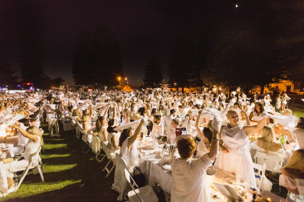 Diner en Blanc events have taken place in many parts of the globe, like this 2017 event in Perth, Australia.