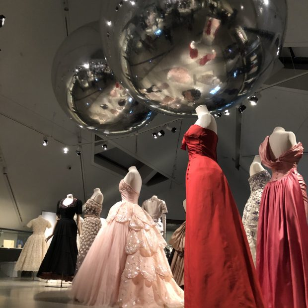 Vintage Dior exhibit at the Royal Ontario Museum.
