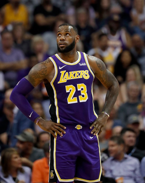 Lakers trounce Suns, earn first win of LeBron James Era ...