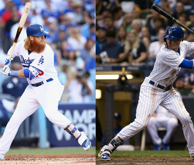 The Dodgers Justin Turner Left And The Brewers Christian Yelich Will Try To Lead Their Teams To The National League Title When They Open The