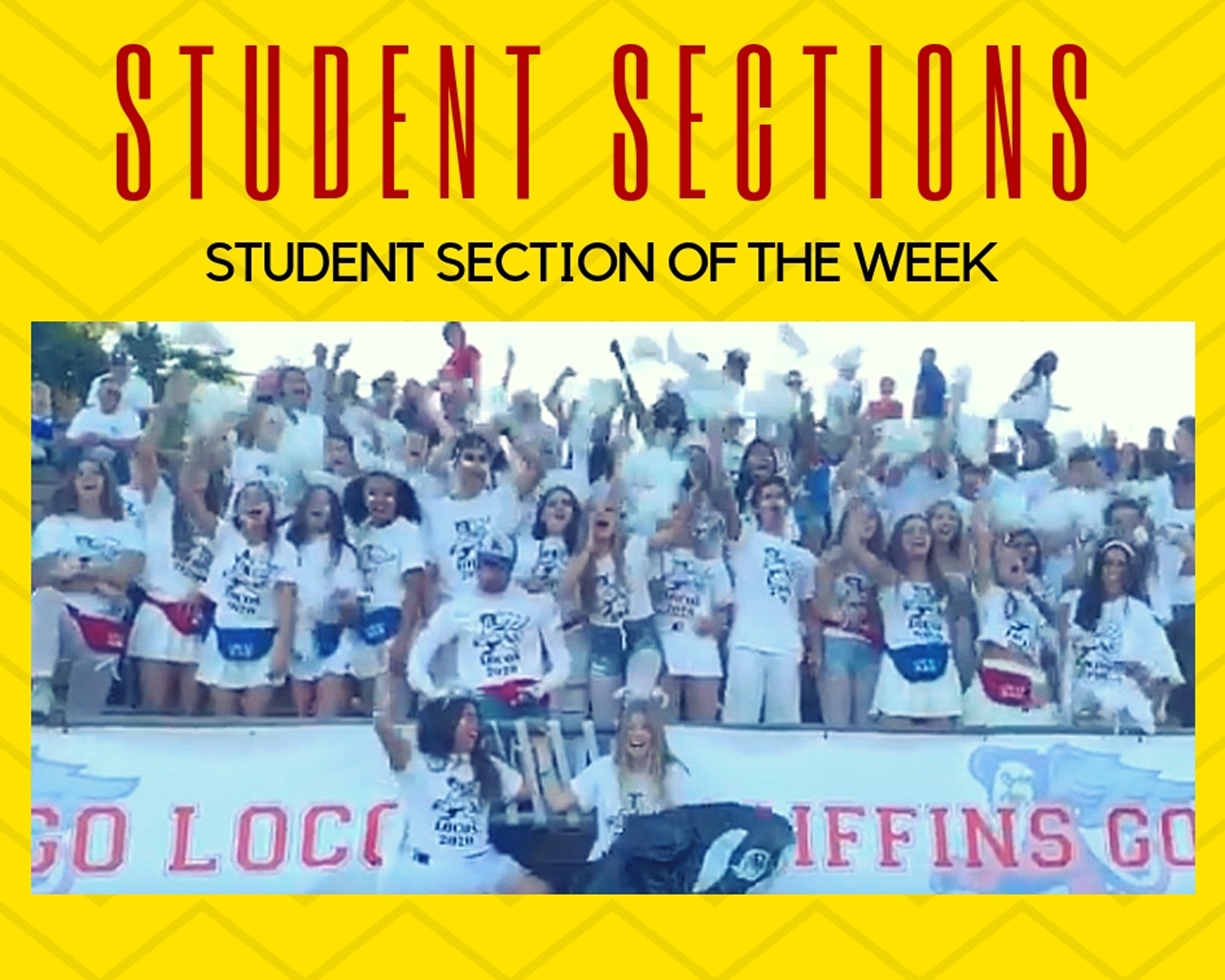 Griffin Cheering section, Los Locos, wins OC Register Opening Week Student fan section honors