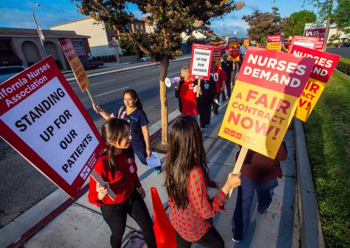 Nurses walk off the job in Los Alamitos amid contract talks