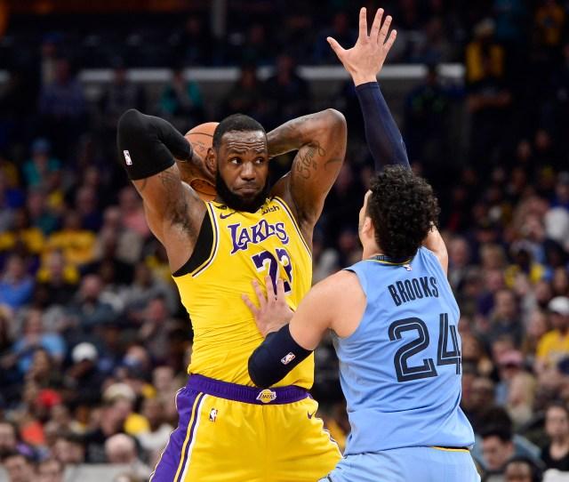 Lakers Look Sluggish In Loss To Ja Morant Grizzlies Orange