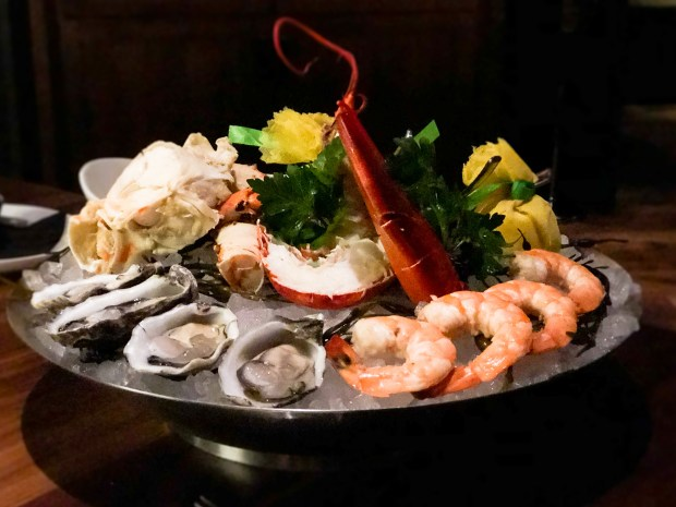 Chilled seafood platter at Old Brea Chop House in downtown Brea (Photo by Brad A. Johnson, Orange County Register/SCNG)