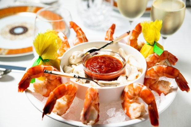 Shrimp and crab cocktail from the takeout menu at The Capital Grille in Costa Mesa (Photo by Brad A. Johnson, Orange County Register/SCNG)
