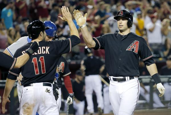 Image result for dbacks high fives -getty