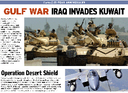 Image result for saddam invades kuwait newspaper images