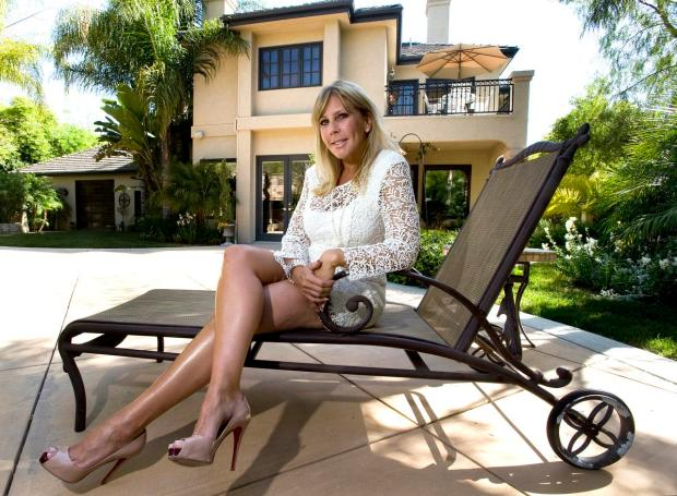 Vicki Gunvalson, of The Real Housewives of Orange County fame, sits in the backyard of her Coto de Caza home in 2011.
