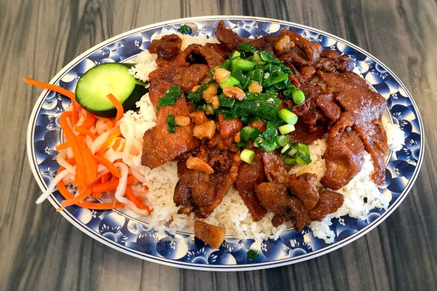 Com Tam Thuan Kiew specializes in broken rice dishes with endless possibilities for toppings. (Photo by Brad A. Johnson, Orange County Register/SCNG)